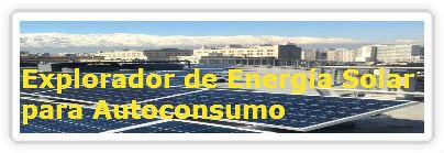 Explorador de Energía Solar para Autoconsumo
